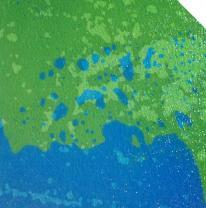 Двухцветная живая плитка сине зеленая для стриптиз подиума