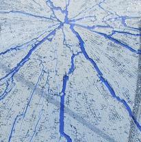 Стекло для столешниц (голубой. / синие трещины.)