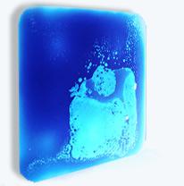 Столешница с покрытием, интерактивная поверхность, цвет голубой / синий