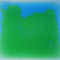 Напольное покрытие, живая плитка, цвет зеленый / голубой