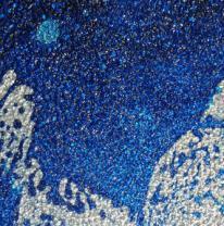 Напольная плитка liquid floor синяя