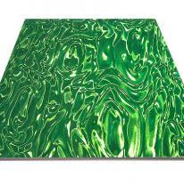 Панель потолочная Армстронг 3D зеленого цвета