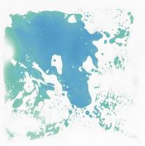 Напольное покрытие, живая плитка, цвет голубой
