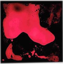 Напольное покрытие, живая плитка, цвет красный / черный
