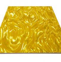 Потолочная панель Армстронг 3D желтого цвета