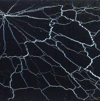 Столешница из стекла THUNDER (бел. / чёрн.) 110x110 см