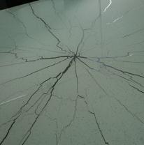 Столешница из стекла (белый / прозрачный трещины) 1.80 м x1.80 м