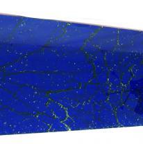 Текстурированное стекло 80 x 40 Цвет синий прозрачные трещины