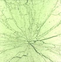 Текстурированное стекло 80 x 40 Цвет желто-зеленый / черные трещины