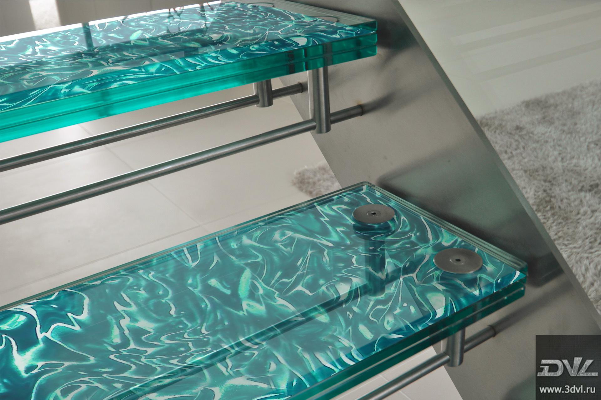 ступени из стекла 3d