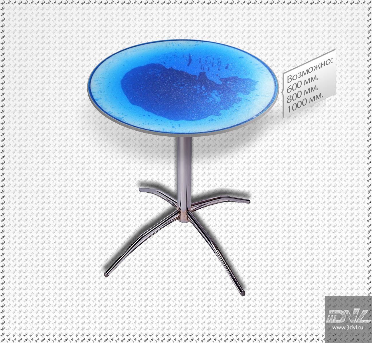 интерактивный столик с живой столешницей liquid table photo