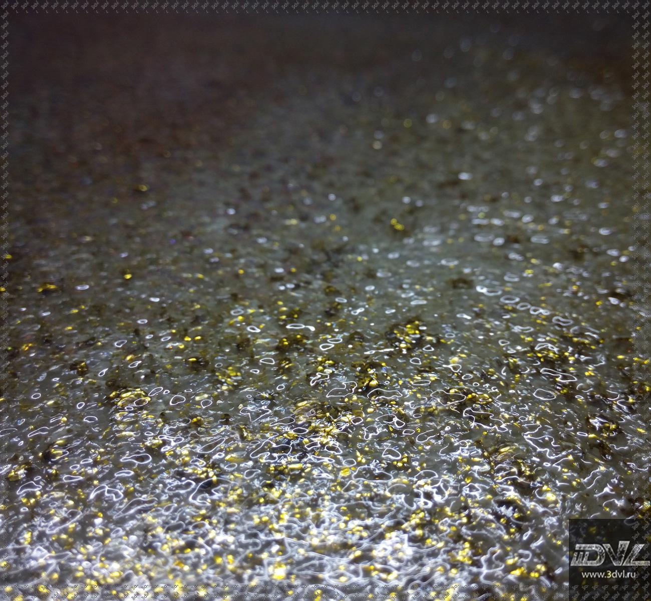 фото золотой живой плитки