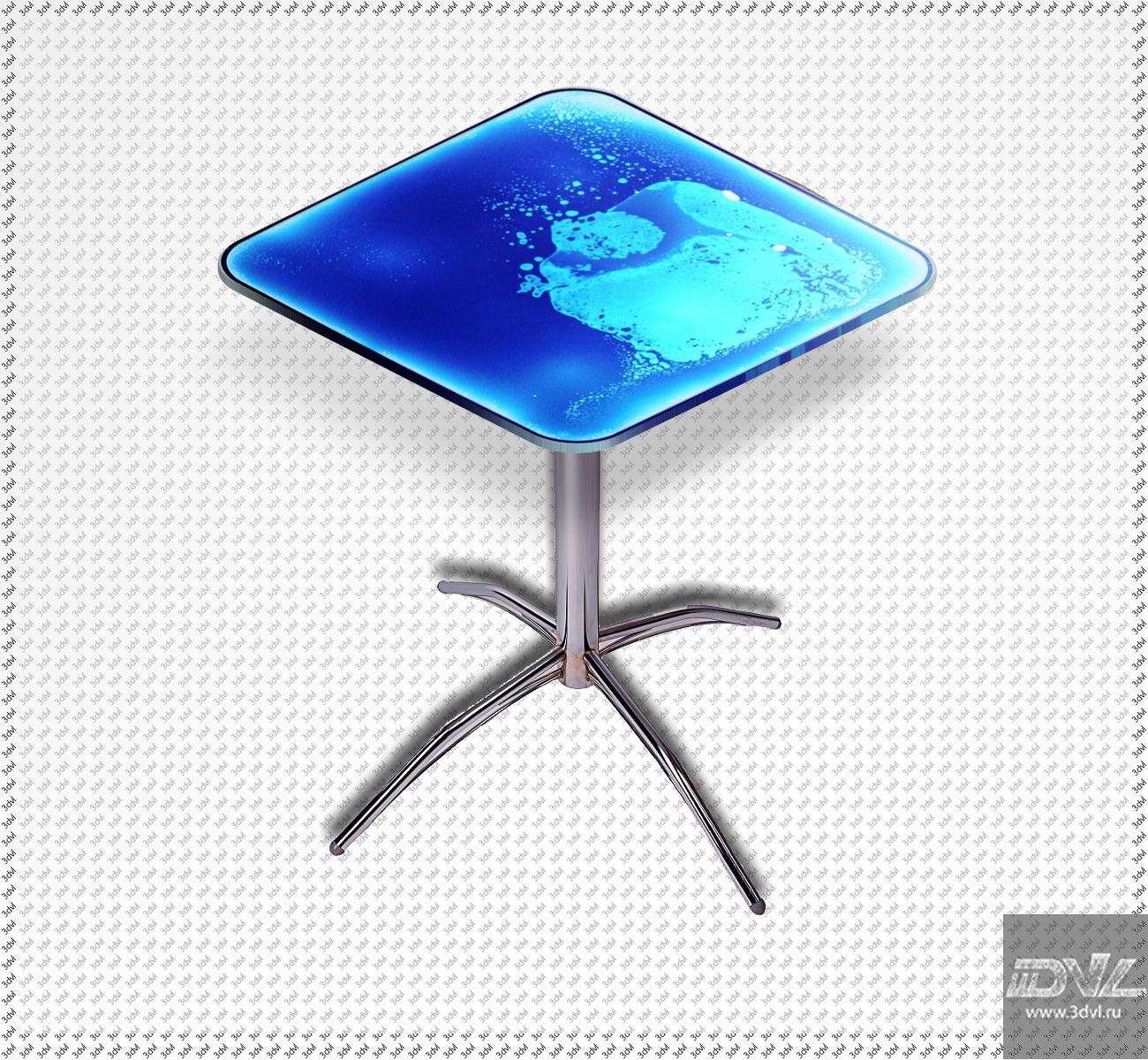 интерактивный стол с меняющимся рисунком liquid table foto для ночного клуба