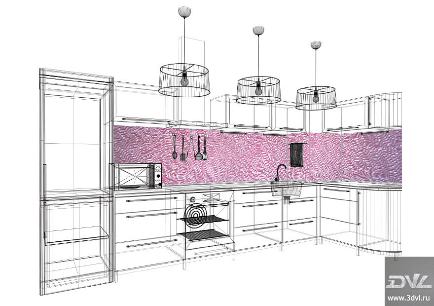 фото 3d кухонный фартук