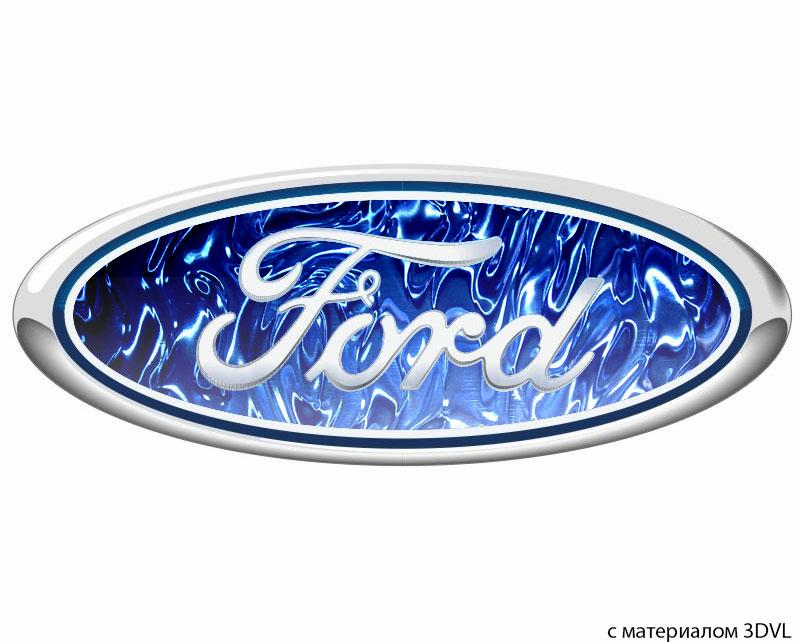 3d лого Ford из пенопласта