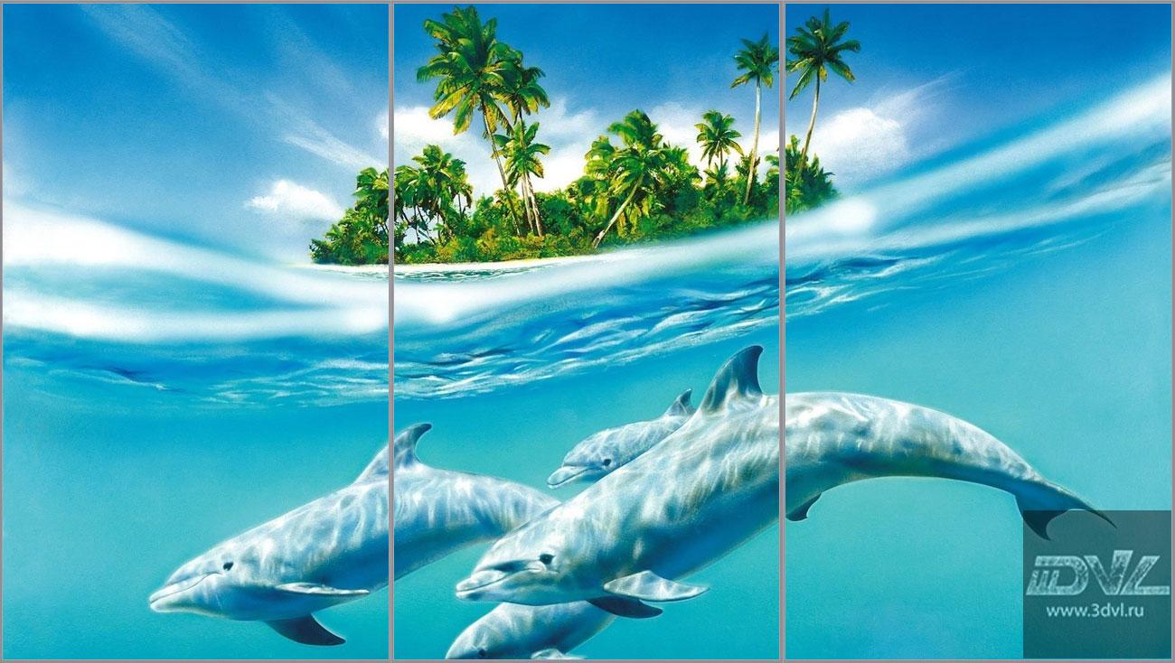 дельфинчик на фото в ванную