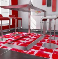 Дизайн кафе с использованием интерактивной поверхности liquid floor