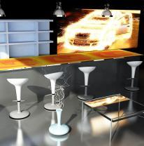 Дизайн бара с использованием интерактивной поверхности