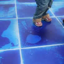 Изготовление для частного детского садика партии живой плитки