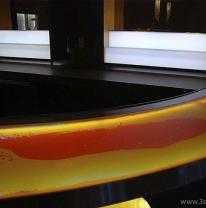 Использование в дизайне барной стойки живого покрытия