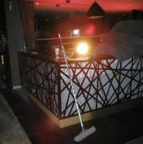 Использование 3d материала в дизайне ночного клуба