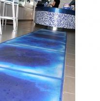 Дизайн кафе Shave-it, с использованием интерактивной плитки