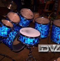 Нанесение 3d пленки на барабанную установку