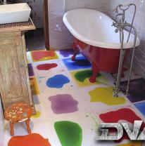 Живая плитка в ванной комнате