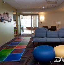 Живая плитка в детском госпитале