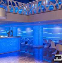 3D пленка в дизайне интерьера ночного клуба