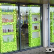 Использование 3d пленки в дизайне интерьера парикмахерской Schagen