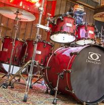 Drum Schlagzeug Drumset Drumcraft 22 Zoll Serie 7 Rock Liquid Lava