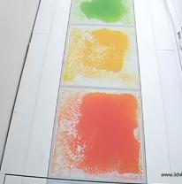 Живая плитка liquid floor в лоджии