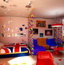 Комната в стиле «Поп-арт» с использованием «живой плитки»