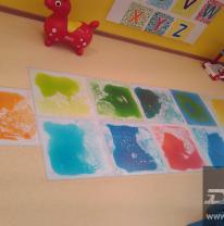 Живая плитка в детском центре