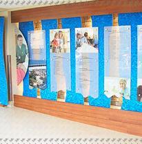 Информационный стенд для школы с покрытием из 3DVL пленки