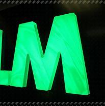 3DVL пленка в объемных буквах.