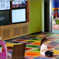 Детская зона из живой плитки