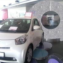 Промостенд в автосалоне компании Toyota
