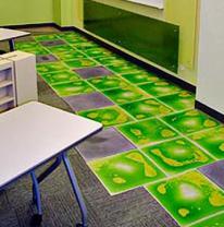 Использовании живой плитки в комнате для детей