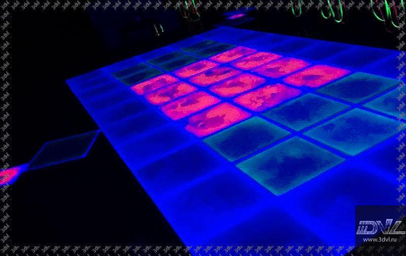 Интерактивная поверхность в ночном клубе