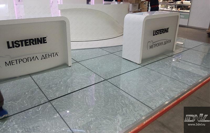 Использование 3DVL пленке на выставочном стенде