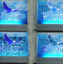Лайтбокс для компании Winston