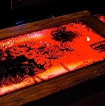 Живая плитка на барной стойке